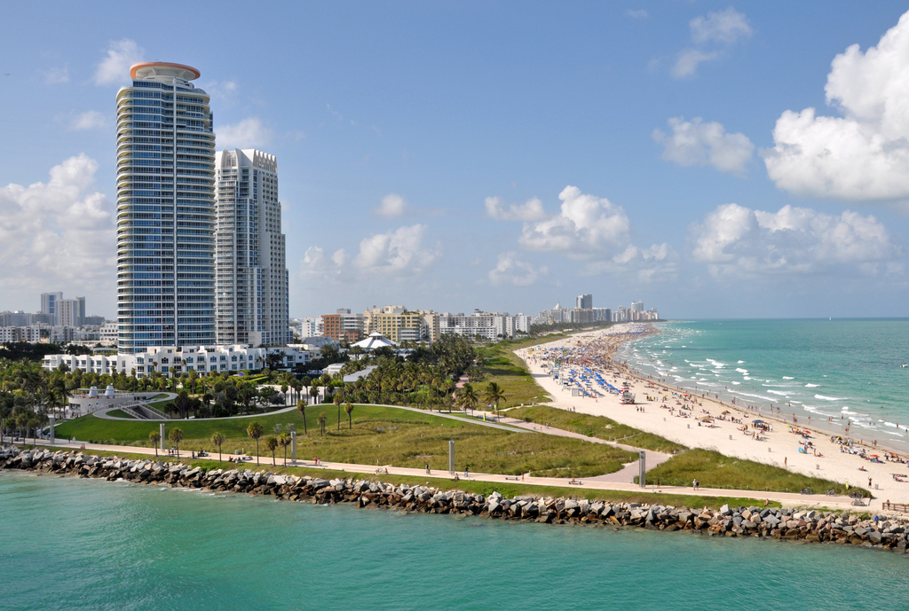 South Point Park view in SOBE Miami