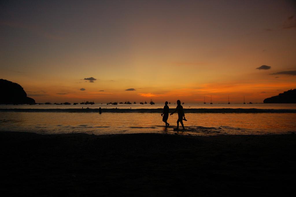 San Juan del Sur, Nicaragua sunset on the beach