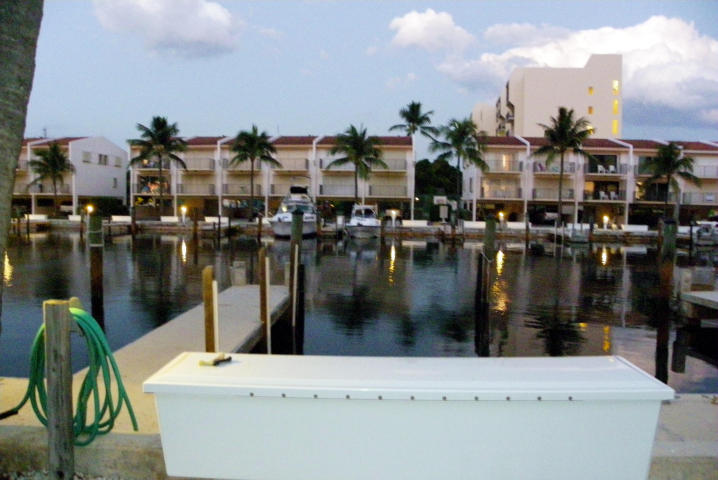 private 33 foot dock included in this Bayfront Townhouse