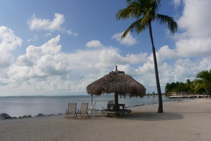 Private beach in bayfront townhouse for sale