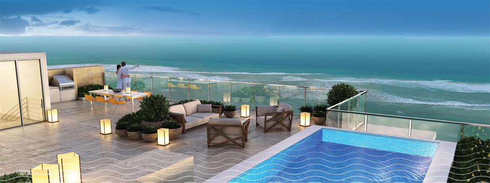 PH terrace at Sage Beach Hollywood FL
