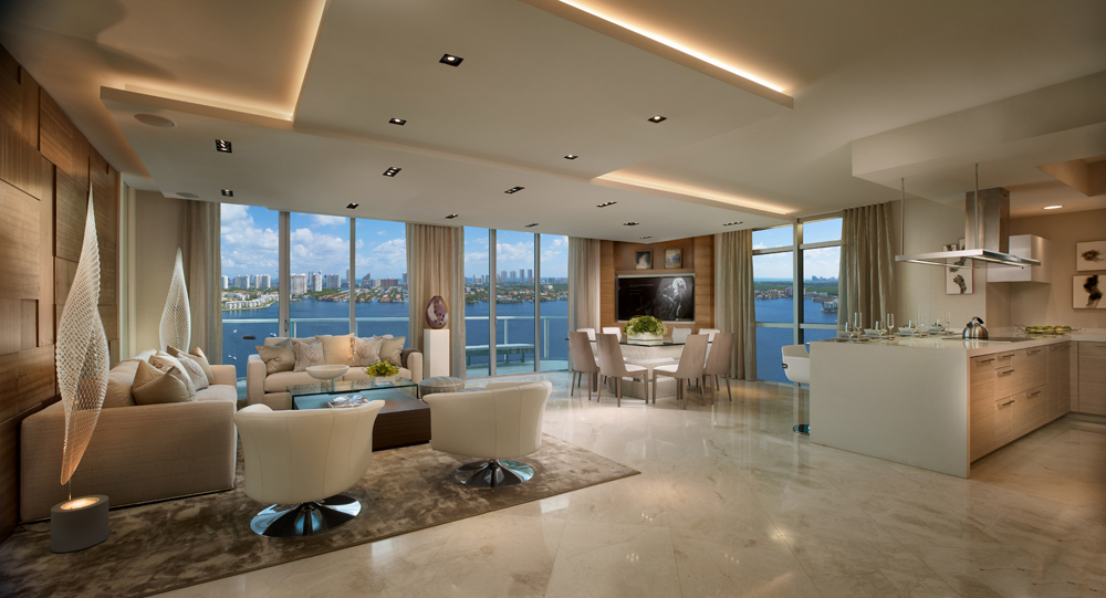main living area at Marina Palms