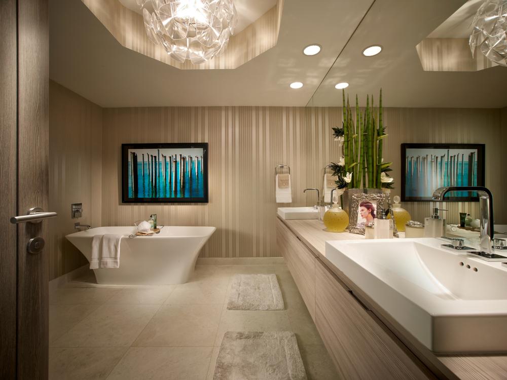 Master Bathroom at Marina Palms