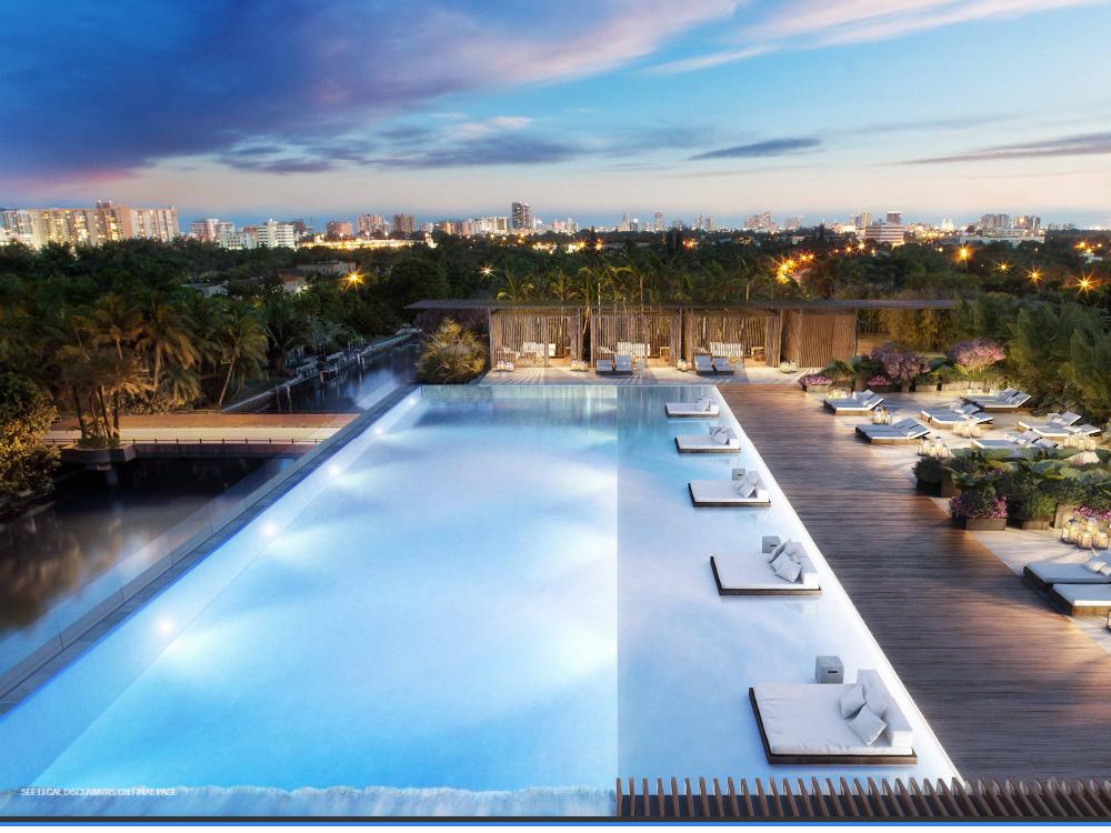 roftop pool at the Ritz-Carlton Residences