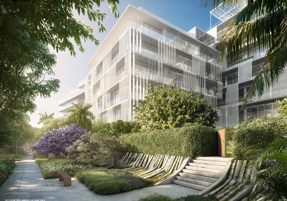 Private gardens in Ritz-Carlton Residences