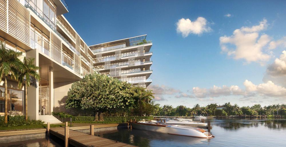 Private docks at the Ritz-Carlton Residences in Miami Beach