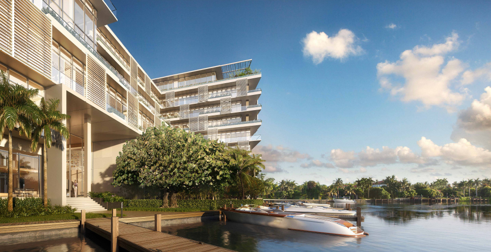 Private docks at the Ritz-Carlton Residences in Miami Beach