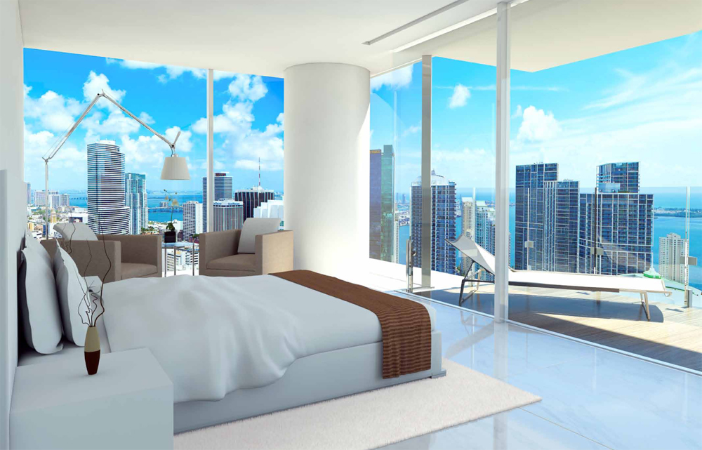 Views from master bedroom in Edge on Brickell