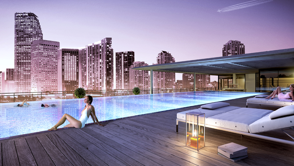 Rooftop pool in Cassa Brickell miami