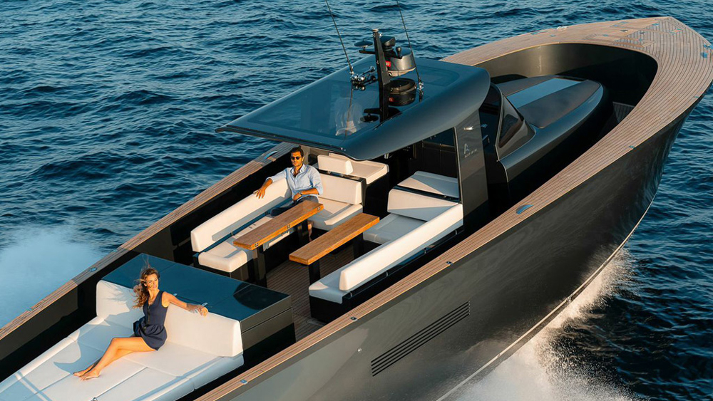 Alen 55 open yacht stylish, fast, and roomy
