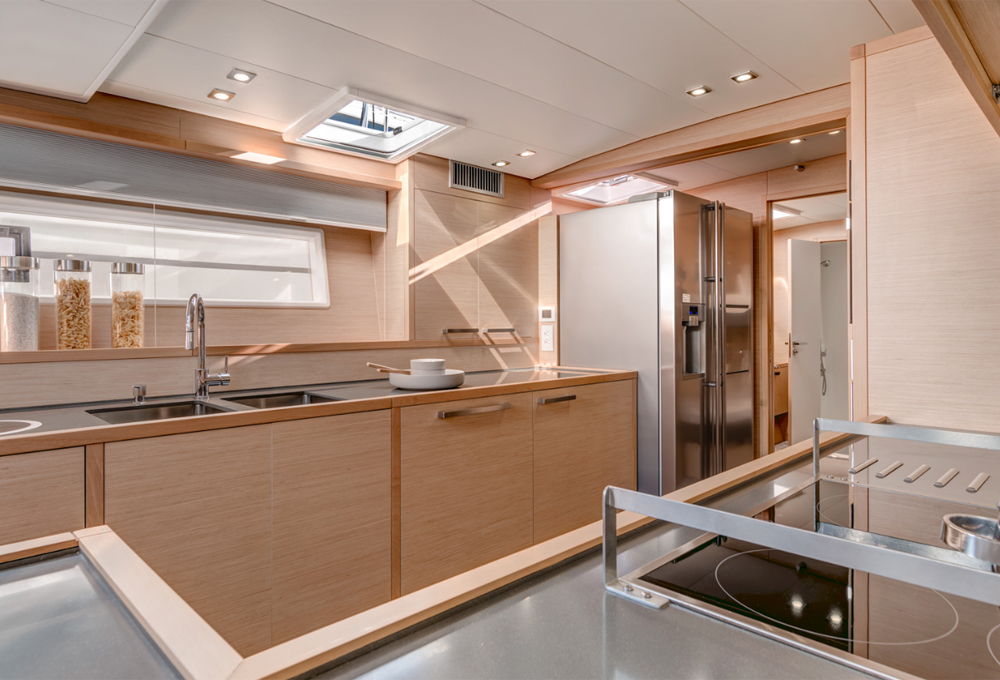 Galley on a 63MY Lagoon