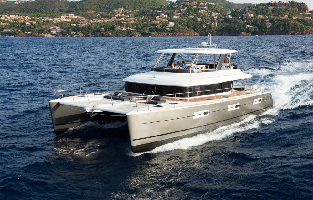 Lagoon 63 Power Catamaran cruising