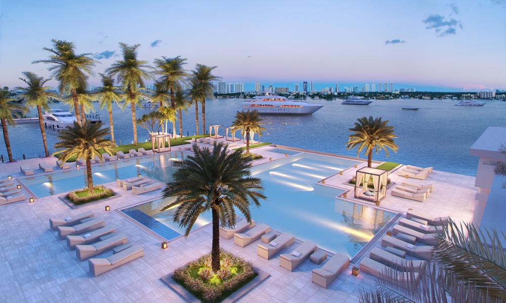 Enjoy luxury living pool side