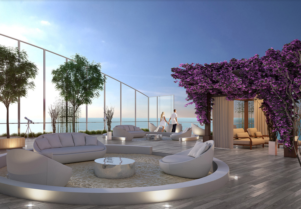 Penthouse sky garden at Muse Sunny Isles
