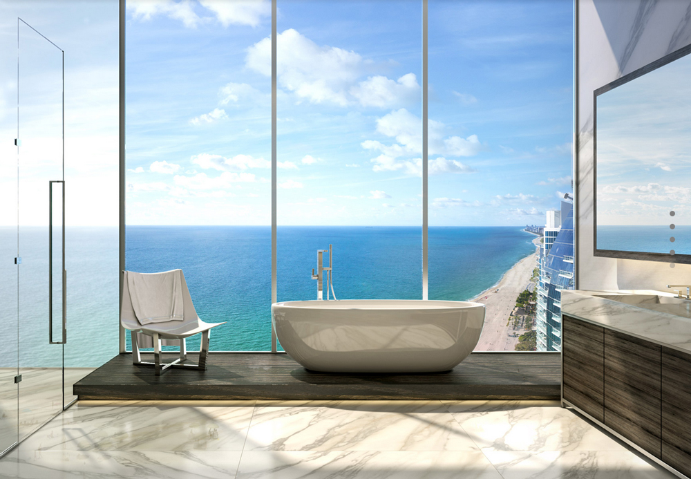 Master Bath at Muse Miami