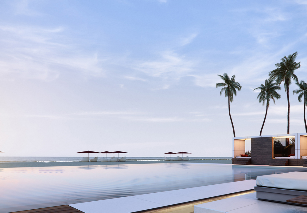 The pool at Muse, an Oceanside Residences in Miami