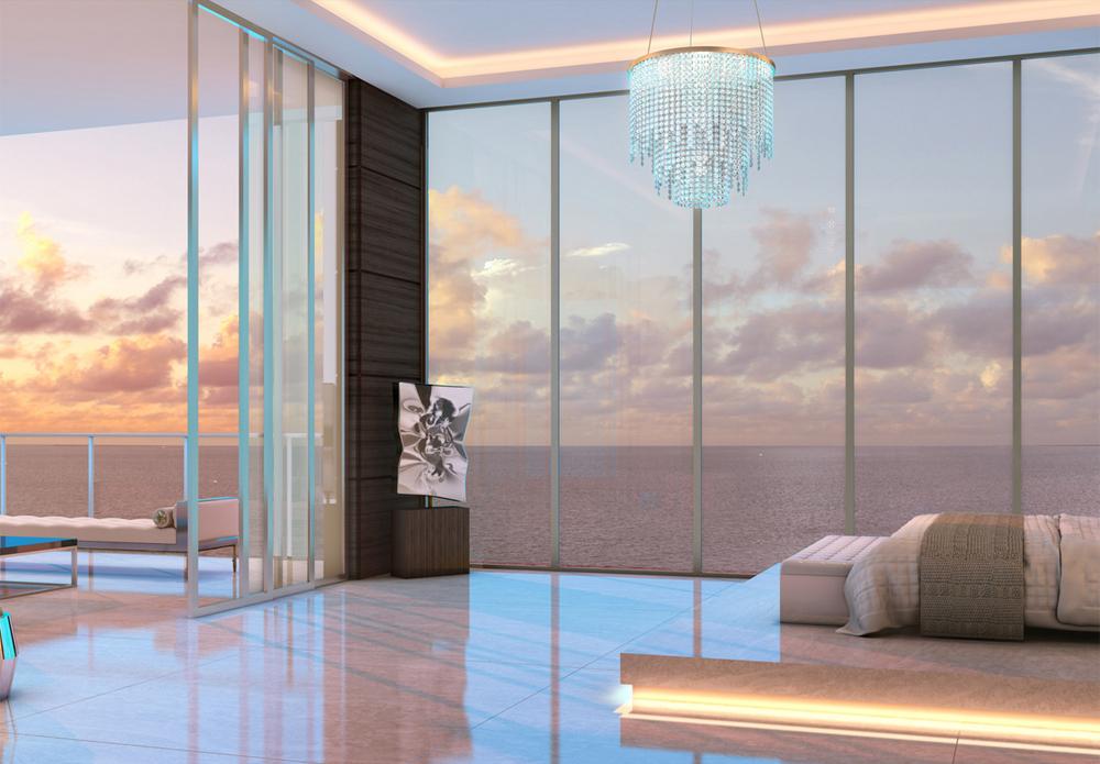 Master Bedroom in Muse Sunny Isles FL