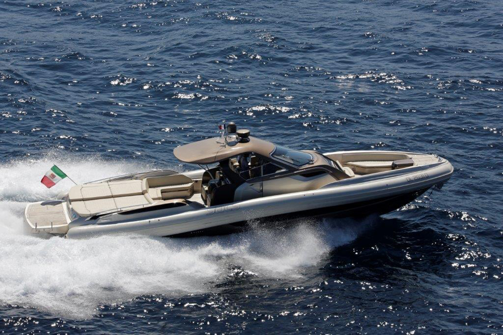SACS RIB strider 18 model, an inflatable day cruiser