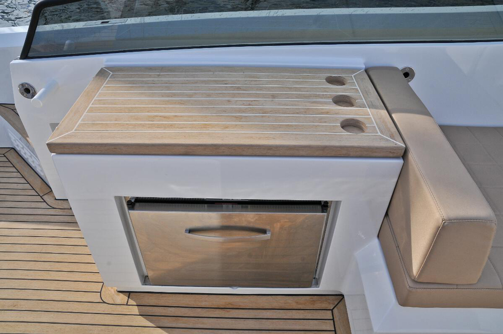 Galley on the 43 performance cruiser
