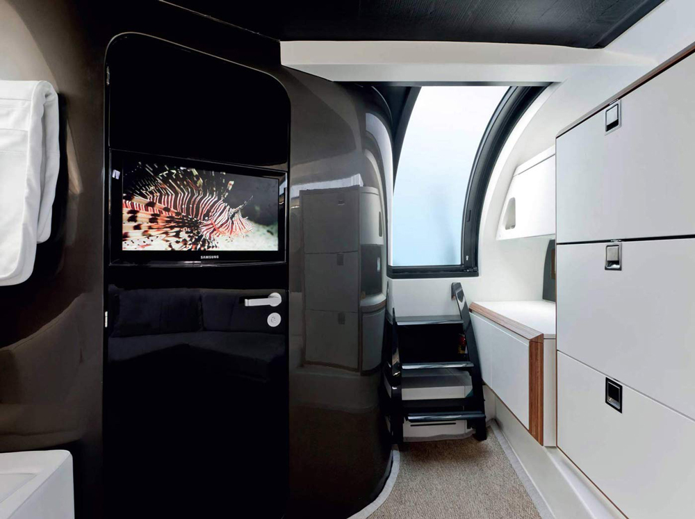 Interior on the WIDER 42 yacht