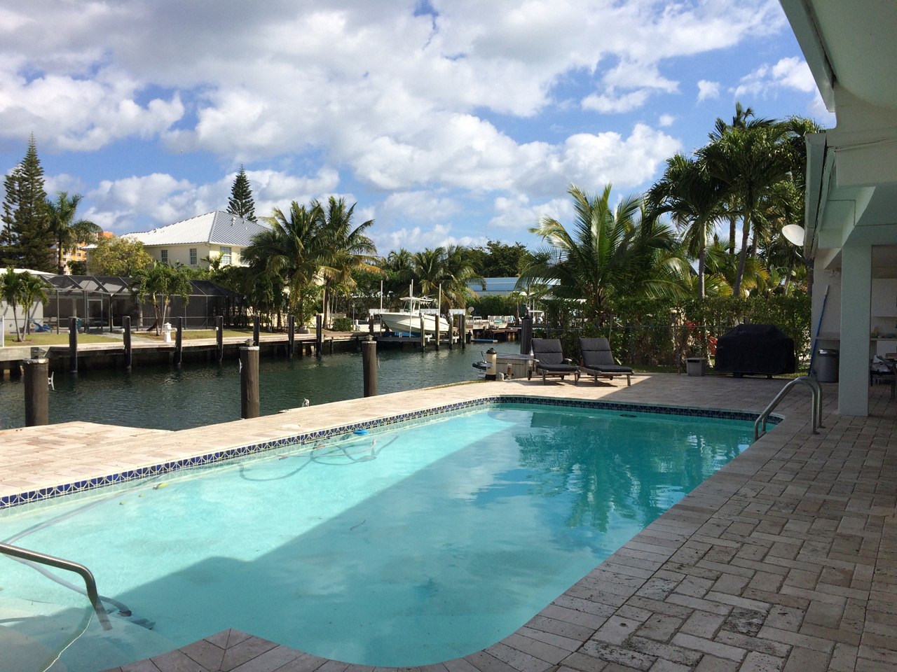 Keystone Point Home for sale with pool and 75' Dock