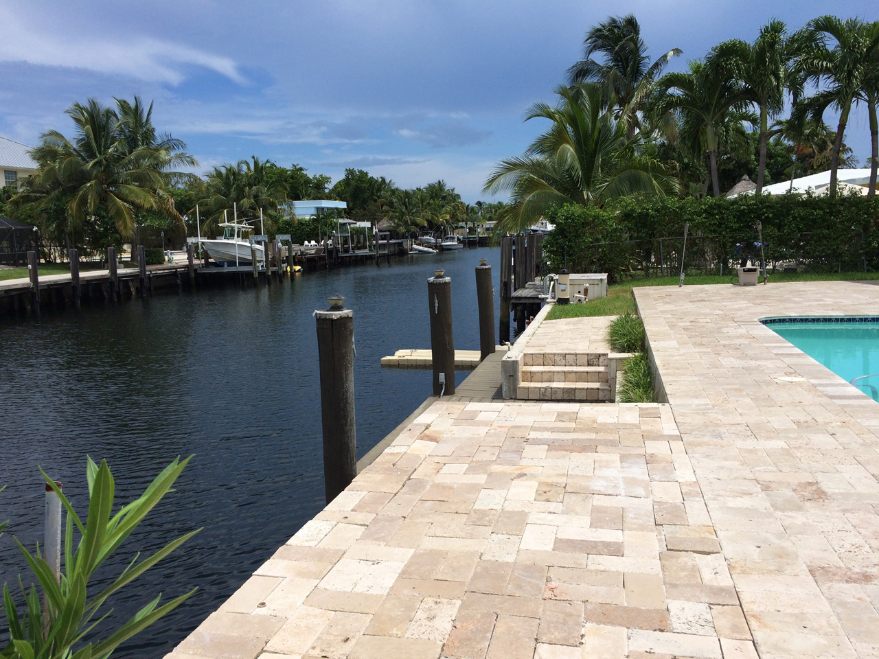 75' waterfront in this Keystone Point villa for sale