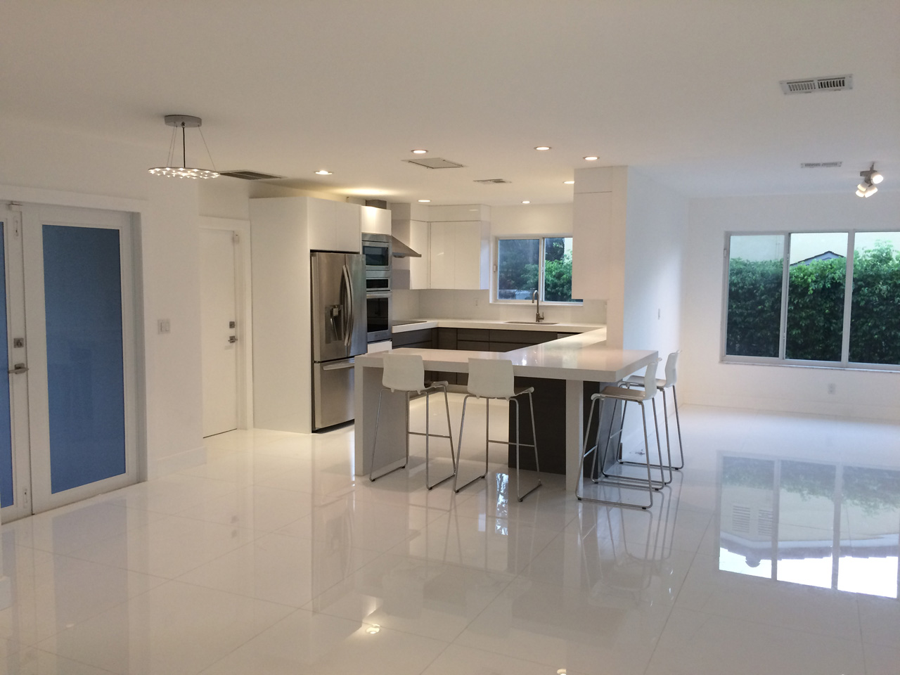 Brand new kitchen fit for a chef. Home for sale in Miami. Keystone Point Waterfront Villa For Sale